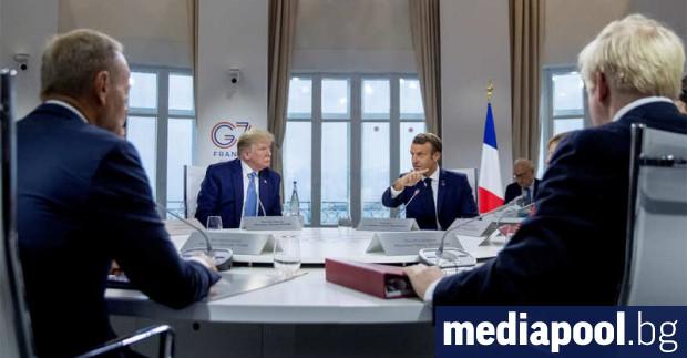 Ръководителите от Г-7 на срещата си във френския град Биариц