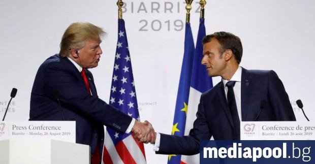 Американският президент Доналд Тръмп, традиционен критик на мултилатерализма, и френският