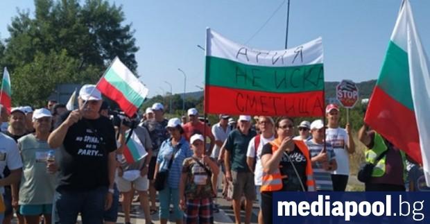 Жителите на три созополски села протестираха в неделя срещу изграждането