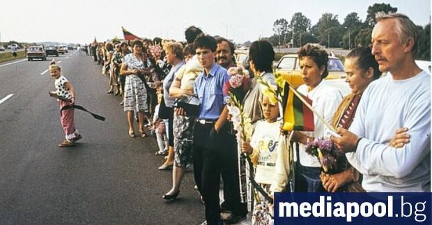Трите балтийски републики отбелязаха днес 30-те годишнина от