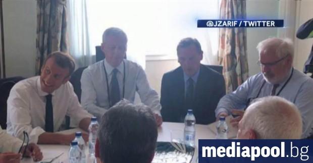 Иранската делегация е обсъждала с френската страна вчера в Биариц