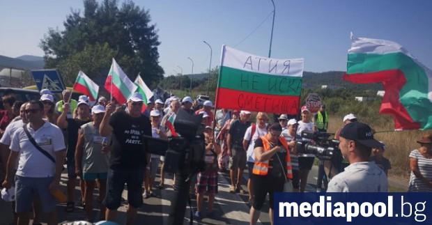 Жителите на созополското село Атия протестират в неделя срещу изграждането
