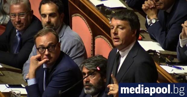 Бившият италиански премиер Матео Ренци заяви в интервю, че би