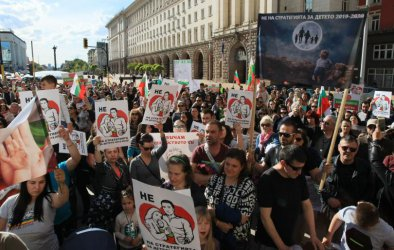 Протест в София срещу стратегията за детето