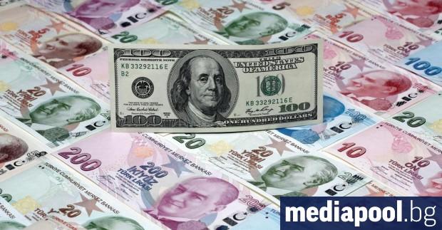 Турската лира достигна най-ниското си ниво спрямо долара в рамките