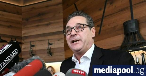 Хайнц-Кристиан Щрахе - бившият австрийски вицеканцлер, който беше в центъра