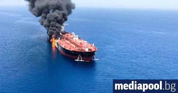 Взрив на борда подпали ирански танкер, собственост на иранската национална