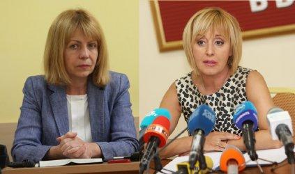 Фандъкова и Манолова в спор за задкулисието, парното и кой колко билборда има