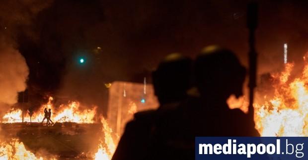 Протести в Барселона продължиха и през изминалата нощ отново прераснаха
