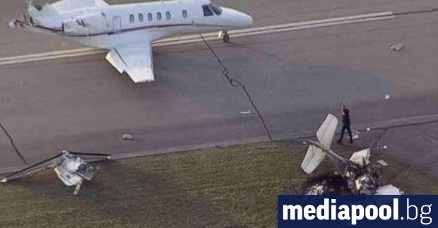 Два самолета се сблъскаха на летището във Франкфурт, но за