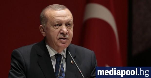 Турският президент Реджеп Тайип Ердоган заяви в четвъртък, че страната