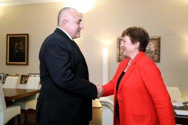 Борисов обсъдил с Кристалина Георгиева сътрудничеството с МВФ