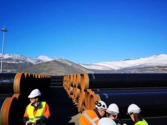 Произведени са 47 км тръби за газовата връзка с Гърция