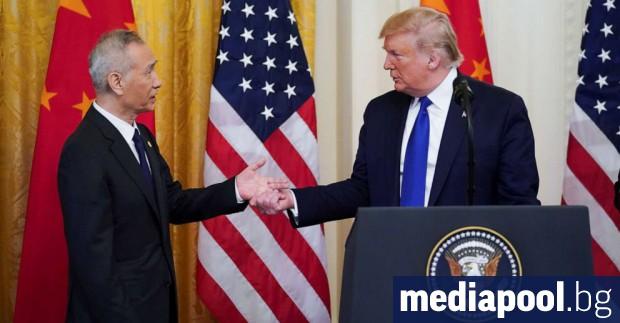 Президентът на САЩ Доналд Тръмп и китайският вицепремиер Лю Хъ