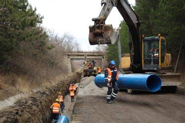 Водопроводът за Перник се строи със скорост от 375 м за денонощие