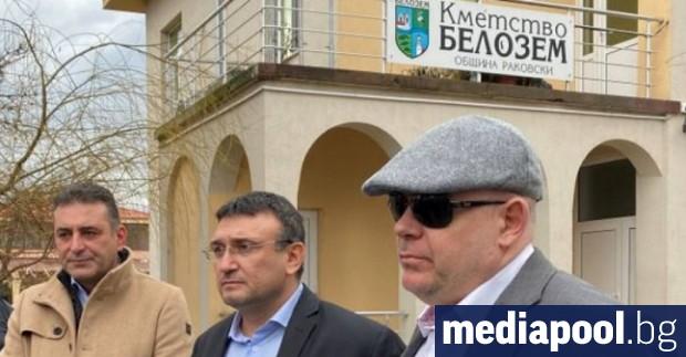 Главният прокурор Иван Гешев и вътрешният министър Младен Маринов направиха
