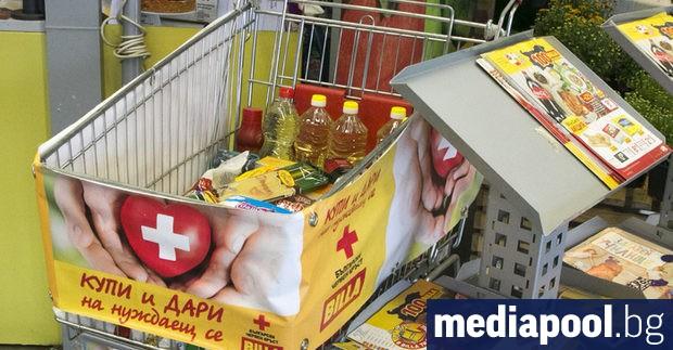 Общо 21 720 кг. хранителни продукти купиха за нуждаещи се