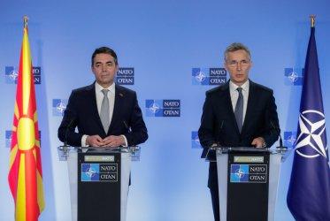 Северна Македония с първо участие в заседание на НАТО, като пълноправен член