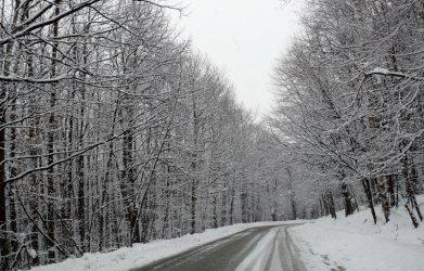 Коли и тирове закъсаха в снега, затвориха пътища, села останаха без ток