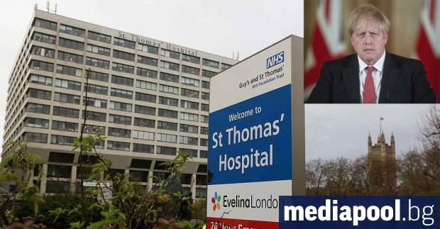 Британският премиер Борис Джонсън ще остане под наблюдение в болницата,