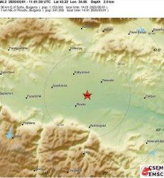 Земетресение с магнитуд над 4 в Пловдив