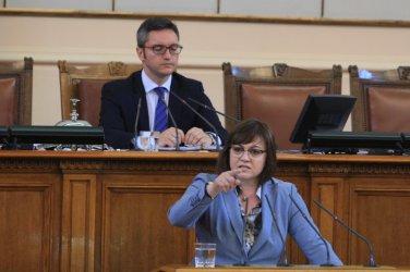 Нинова иска Борисов да плати политическата сметка за задкулисието