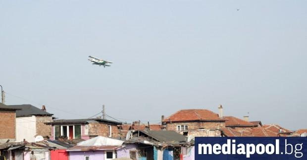 Дезинфекцията от въздуха в ромския квартал