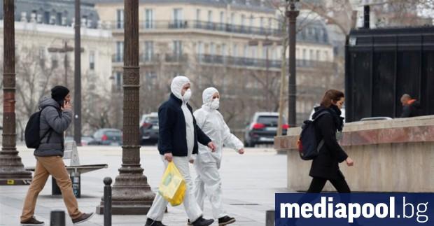 Броят на починалите във Франция за периода от 1 март