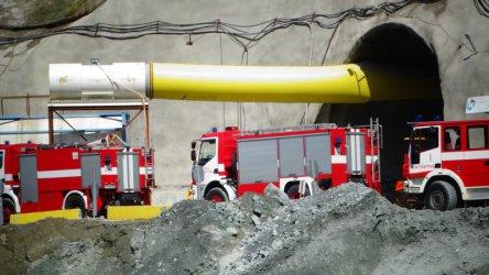 """Трима ранени при срутване в строящия се тунел """"Железница"""""""