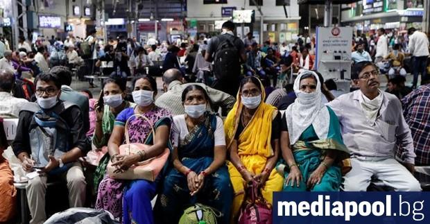 Броят на заразените с новия коронавирус в Индия през изтеклото