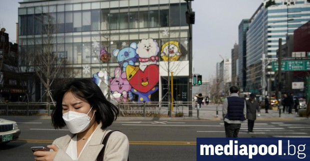 Южна Корея съобщи днес за най-голям ръст на новите заразени