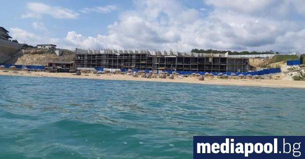 """За година свлачището край плажа """"Свети Тома"""", който е продължение"""