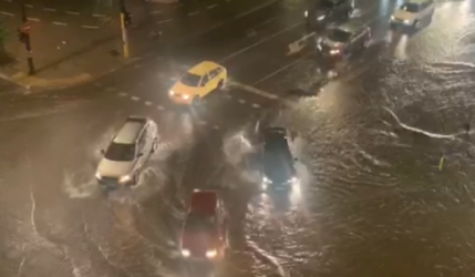 Пороен дъжд наводни София и остави квартали без ток