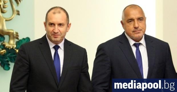 Държавният глава Румен Радев и министър-председателят Бойко Борисов поздравиха президента