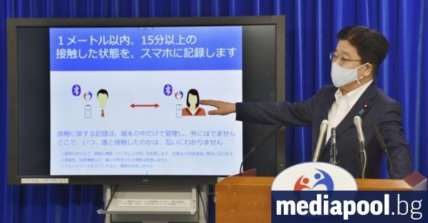 Японското мобилно приложение за проследяване на контактните на хора с