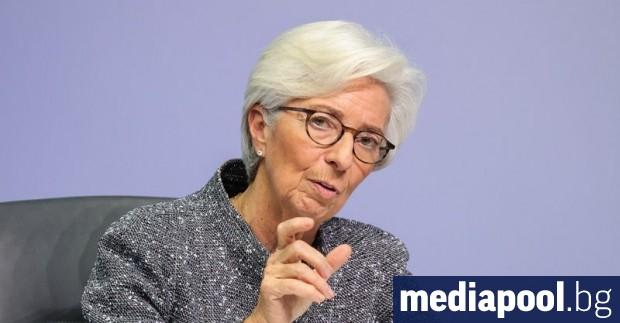 Президентът на Европейската централна банка (ЕЦБ) Кристин Лагард заяви, че