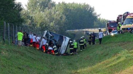 Загинал и 34 ранени при катастрофа в Унгария на полски автобус с връщащи се от България туристи