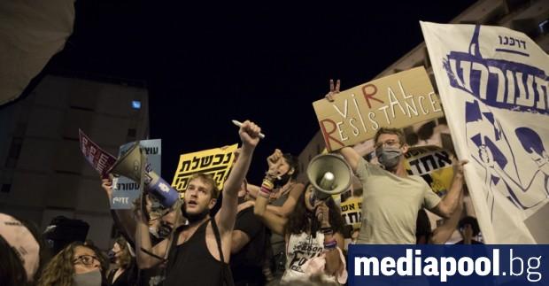 Хиляди израелци протестираха вчера пред резиденцията в Ерусалим на премиера