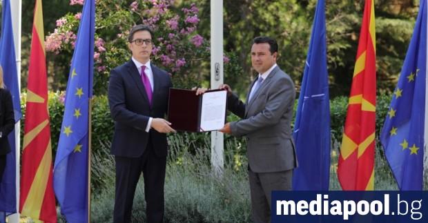 Президентът на Република Северна Македония Стево Пендаровски връчи днес мандат