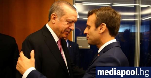 Турският президент Реджеп Тайип Ердоган обвини днес френския държавен глава