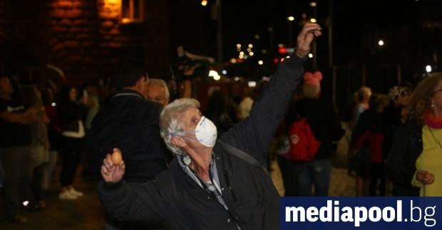За 73-ти пореден ден на протест в центъра на София