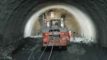 """Две трети от тунел """"Железница"""" са прокопани"""