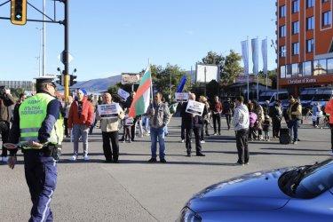 """Жители на Горубляне подновиха протестите и отново блокираха """"Цариградско шосе"""""""