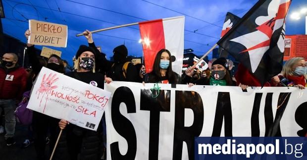 Женска стачка се провежда в Полша в знак на протест