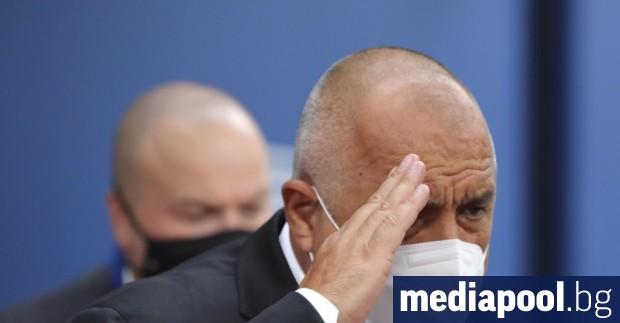 Премиерът Бойко Борисов обяви в събота, че е заразен с