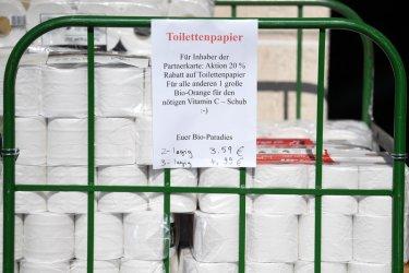 Стабилен ръст на произведените дезинфектанти и макарони в Германия и спад на тоалетна хартия