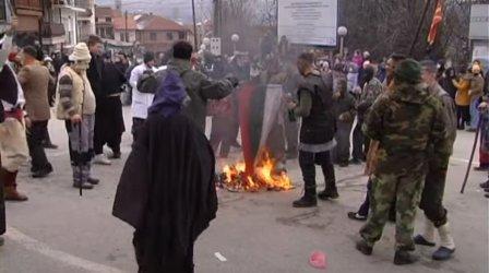 Македонската прокуратура заведе дело за палежа на българското знаме