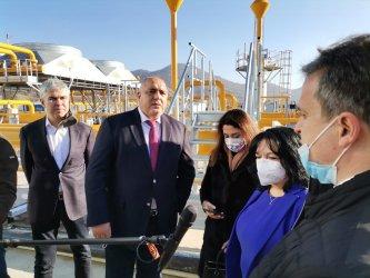 Борисов приветства азерския газ край Петрич, след като Вучич посрещна руския