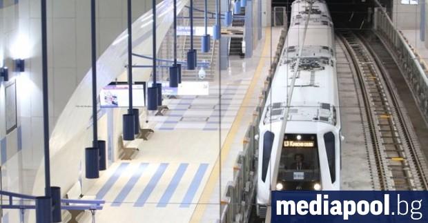 Преминаващата под релсовия път на метрото река е повредила релсовия
