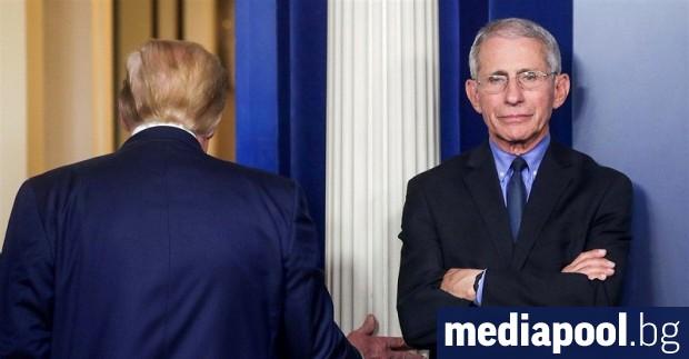 Американският имунолог Антъни Фаучи, съветник на Белия дом по въпросите